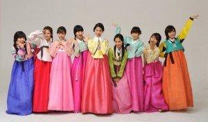 Các cô gái Hàn trong trang phục Hanbok truyền thống