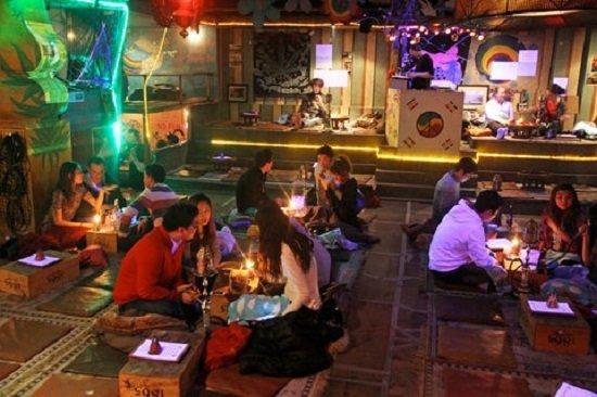Một quán cà phê ở khu Gangnam, Seoul