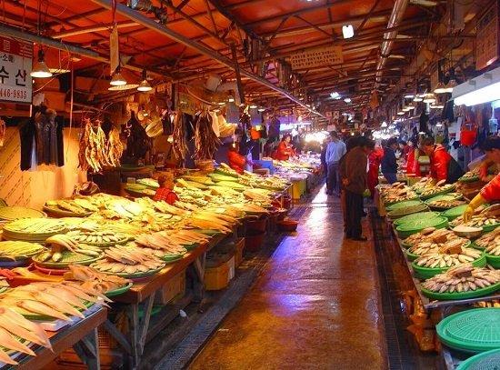 Chợ cá Sorae ở Incheon, Hàn Quốc